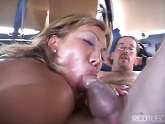 anal, blowjob, brunette, deepthroat, facial, oral, pornstar, shaved, tattoo, threesome