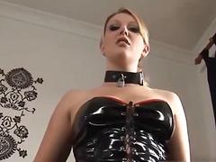 blonde, fetish, latex, lingerie-videos.com
