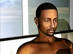 أفلام ثلاثية الأبعاد, جنس جماعى, أعراق مختلفة