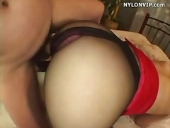 cumshot, pantyhose, secretary, tight, uniform, stockings, nylons, ripped, sex-toys, nylonvip