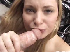 babe, blonde, blowjob, deepthroat, facial, pov, sperm, chick, gagging, cum-shot