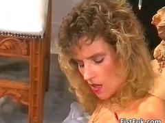 fisting, lésbica, masturbação, madura, mamãe sexy, estrela pornô, brinquedos, vintage
