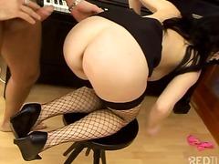 anal, blowjob, couple, heels, oral, tits, stockings, big, cum, shot