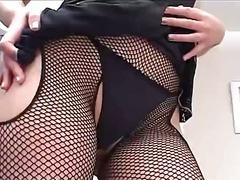 dildo, milf, upskirt, vibrator, stockings, toys, sologirl
