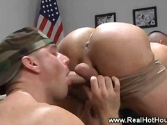 ass, gay, lick, uniform, fingering, rimming