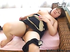 asian, bbw, masturbation, stockings, toys