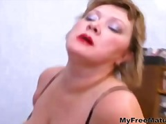 lick, mature, pussy, russian, stockings, boobs, big