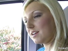 blonde, car, horny, fucking, down, stranger, break, delicious