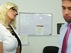 american, ass, blonde, boss, busty, cock, heels, lick, naughty, office