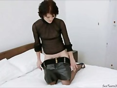 vuistpenetratie, inbrenging, vagina, kousen, wijd open