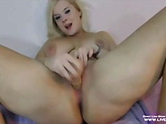 blonde, busty, masturbation, pussy, rubbing, sweet, real