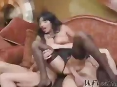 árabe, negro, esporrada, ébano, lingerie, meia fina