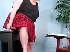 bbw, masturbation, redhead, solo, toys