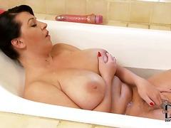 brunette, milf, tits, big, natural, bathroom, europeans, ainsley addison