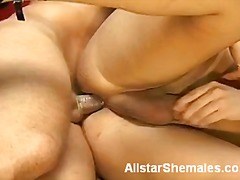 blonde, shemale, tranny, banging