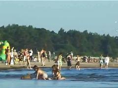 amateur, beach, public