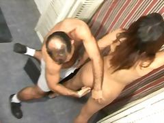 69, bareback, behind, big boobs, brunette, busty, condom, deep, dirty, doggy-style