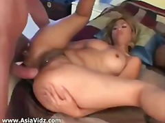 asian, babe, big boobs, big cock, big ass, cumshot, interracial, model, pussy, thai