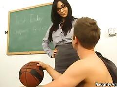 brunette, busty, first, hardcore, school, teacher, students, professor, diana