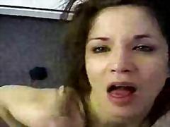 anal, brunette, facial, hardcore, tits