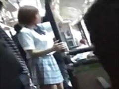 asian, bus, japanese, teen, schoolgirl