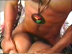 anal, cu, negro, casal, garganta profunda, ébano, hardcore, vintage