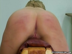 blonde, spanking, punishment, flogging, caning