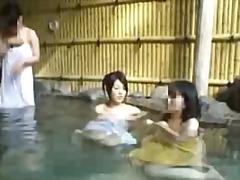 asiático, gostosa, japonês, piscina