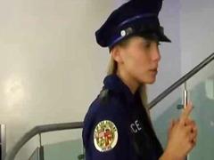 lesbian, teen, uniform, cop