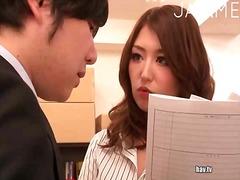 آسيوى, تستمنى زبه بيدها, يابانيات, في المكتب, فموى