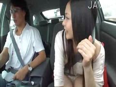 آسيوى, في السيارة, يابانيات, نكاح اليد, خارج المنزل