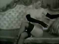 loura, trigueira, compilation, lingerie, modelo, a sós, vintage