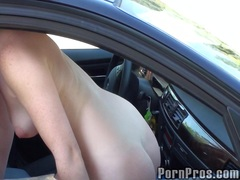 babe, car, college, public, redhead, titty, takes, gal