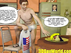 3d, american, cartoon, first, funny, gay, hentai, hunk, insertion, jerking