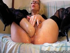 cougar, fisting, granny, hairy, milf, mom, stockings, old, older, mommy