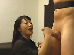 asiático, casal, esporrada, dominação, dominação feminina, fetiche, feito em casa, jerking