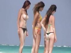 חוף, איטלקיות, ריגול, בחורה