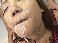 آسيوى, امناء الرجال على امرأة, القذف, إمناء على الوجه