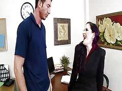horny, milf, office, piercing, big, dick, caroline