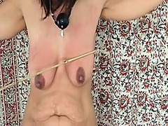 babe, brutal, tits, beating